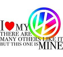 Rainbow I love my VW Photographic Print