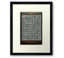 Perk Chart Framed Print