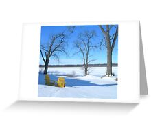 Winter Seating by the Shore Greeting Card