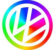 Rainbow VW Photographic Print