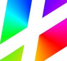 Rainbow VW Sticker