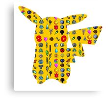 Pokemon 20th pikachu badges Canvas Print
