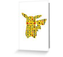Pokemon 20th pikachu badges Greeting Card