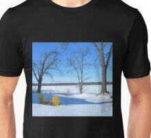Winter Seating by the Shore Unisex T-Shirt