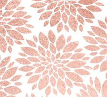 Modern rose gold geometric floral abstract Sticker