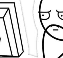Computer Stare   Meme Sticker
