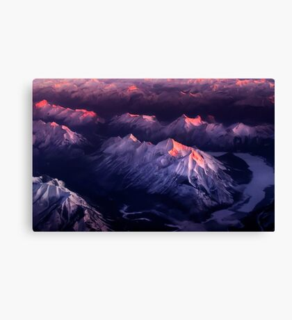 Fire In Ice Canvas Print