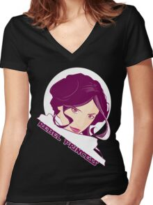 Just your type of princess Women's Fitted V-Neck T-Shirt