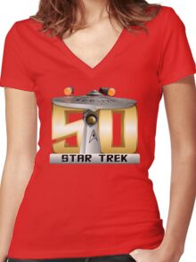 Trek Bowl 50 Women's Fitted V-Neck T-Shirt