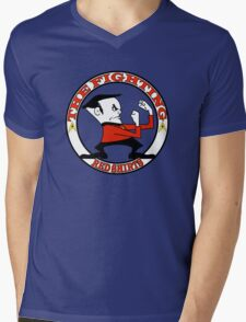The Fighting Red Shirts with logo Mens V-Neck T-Shirt