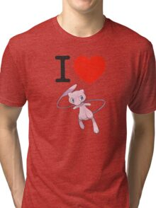 I Love Mew Tri-blend T-Shirt