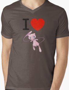 I Love Mew Mens V-Neck T-Shirt