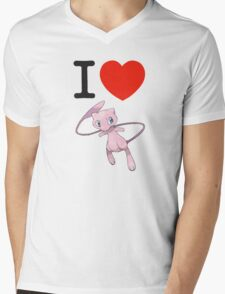 I Love Mew Mens V-Neck T-Shirt