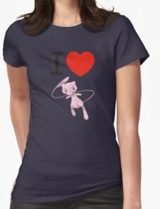 I Love Mew Womens Fitted T-Shirt