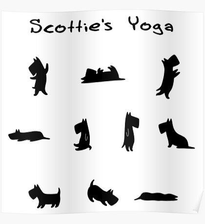Scottie's Yoga Poster
