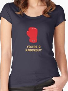 Character Building - Boxing Glove Women's Fitted Scoop T-Shirt
