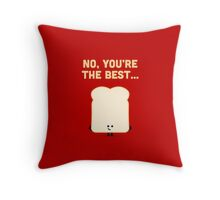 Character Building - Sliced Bread Throw Pillow