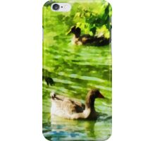 Ducks on a Tranquil Pond iPhone Case/Skin