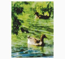 Ducks on a Tranquil Pond One Piece - Long Sleeve