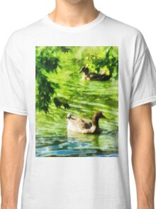 Ducks on a Tranquil Pond Classic T-Shirt