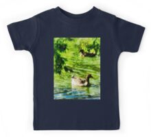 Ducks on a Tranquil Pond Kids Tee