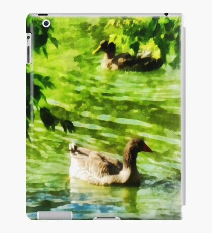 Ducks on a Tranquil Pond iPad Case/Skin