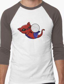 Spider Kitty Men's Baseball ¾ T-Shirt