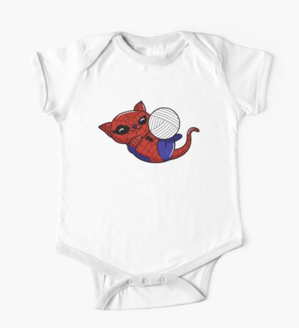 Spider Kitty One Piece - Short Sleeve