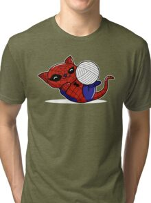 Spider Kitty Tri-blend T-Shirt