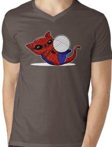 Spider Kitty Mens V-Neck T-Shirt