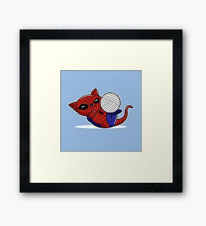 Spider Kitty Framed Print