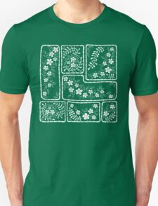 Green and white flowers T-Shirt
