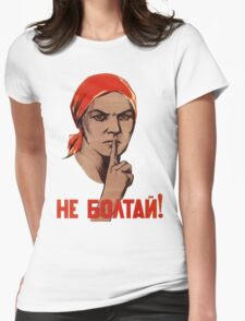 Soviet Treason Poster Womens Fitted T-Shirt