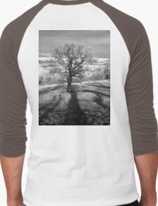 Lone tree over the East Somerset Railway Men's Baseball ¾ T-Shirt
