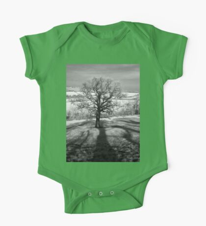 Lone tree over the East Somerset Railway One Piece - Short Sleeve