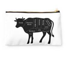Cow- Butchers Diagram  Studio Pouch