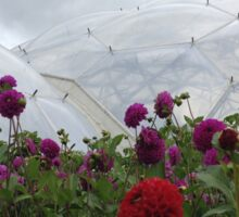 Biodome with some flowers Sticker