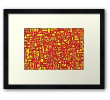 Mazetract Blocks Framed Print