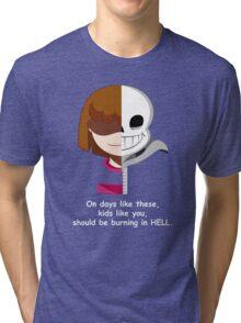 Undertale Sans VS Frisk Tri-blend T-Shirt