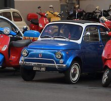 Blue Fiat 500 by Mythos57