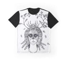 Santa Muerte black and white Graphic T-Shirt
