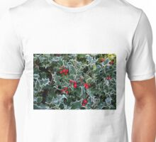 Frost on Holly Hedge Unisex T-Shirt