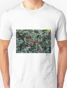 Frost on Holly Hedge T-Shirt
