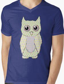 Pastel Owl Mens V-Neck T-Shirt