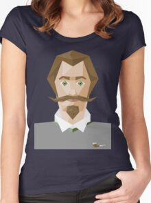 A man with green eyes Women's Fitted Scoop T-Shirt