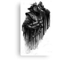 man with parchment Canvas Print