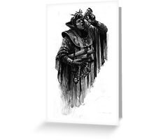 man with parchment Greeting Card