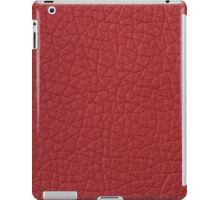 Red leather  iPad Case/Skin