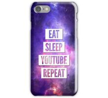 Eat Sleep YouTube Repeat iPhone Case/Skin
