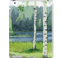 Birch forest iPad Case/Skin